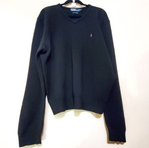 Polo by Ralph Lauren Lambs Wool V-neck Sweater